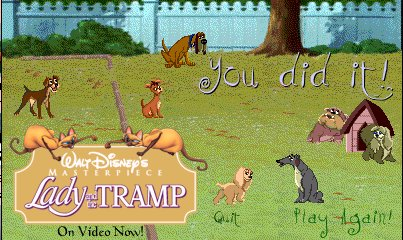 Lady & The Tramp Tie-in games?