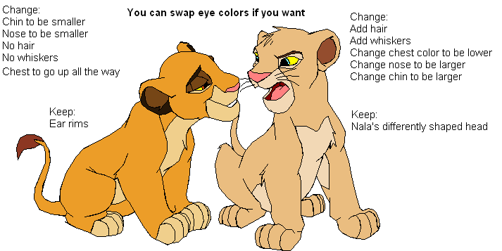 gender swap drawing contest the lion king