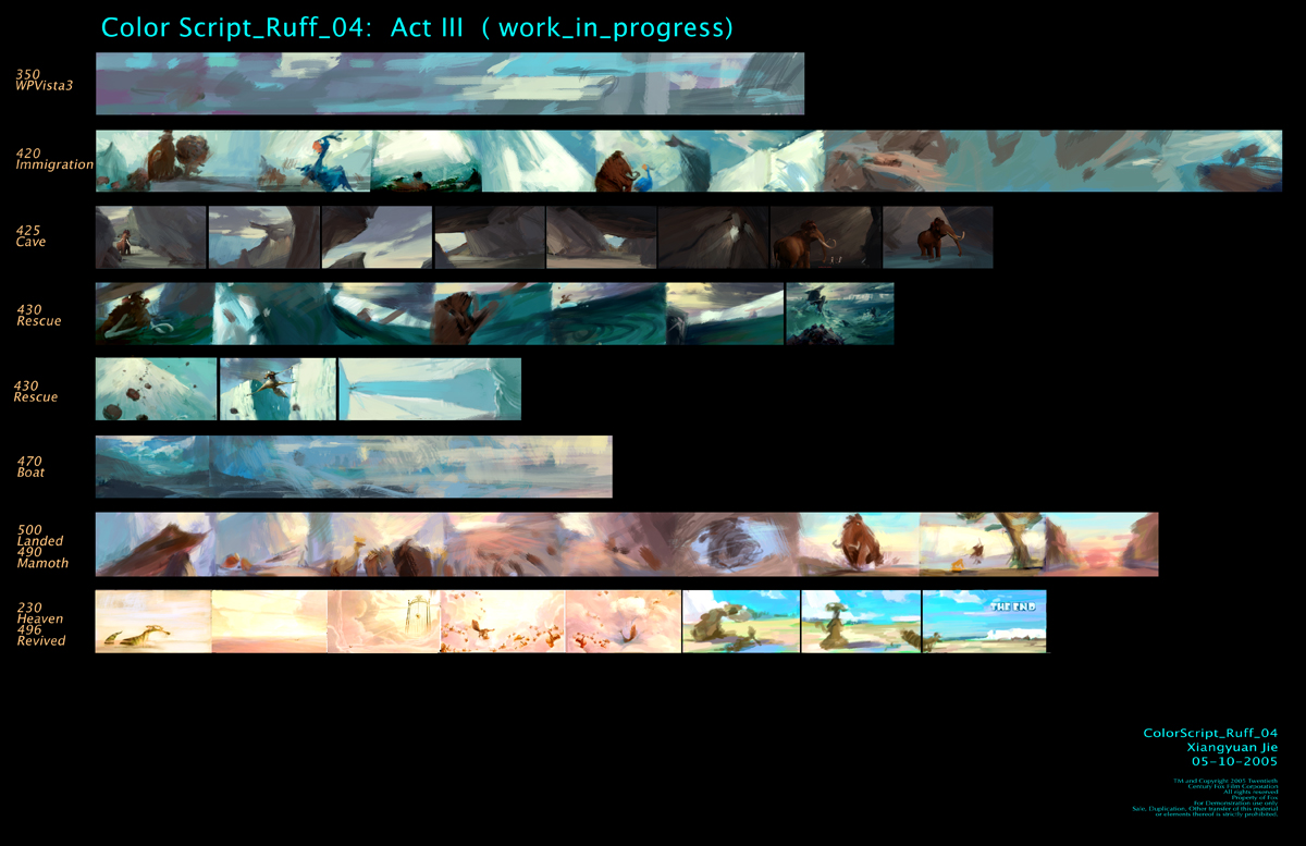 storyboards 169 ice age