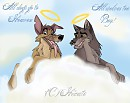 Dogs and wolves on heaven