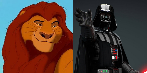 Image result for mufasa and darth vader