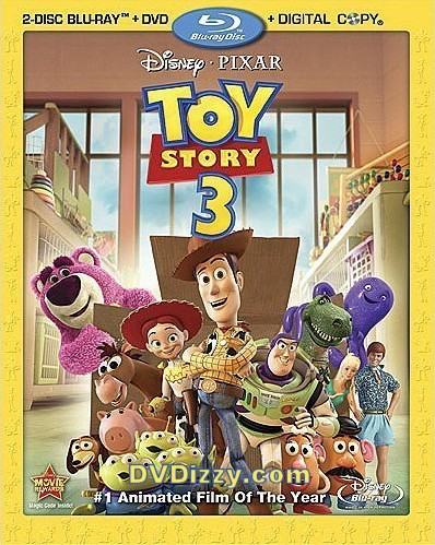 Blu-Ray cover for Toy Story 3