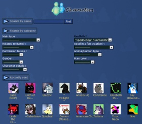 Characters Categories