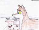 (OLD ART) Watching over the pack