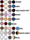 Colour chart - other characters