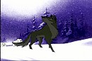 Balto with a Purple Background