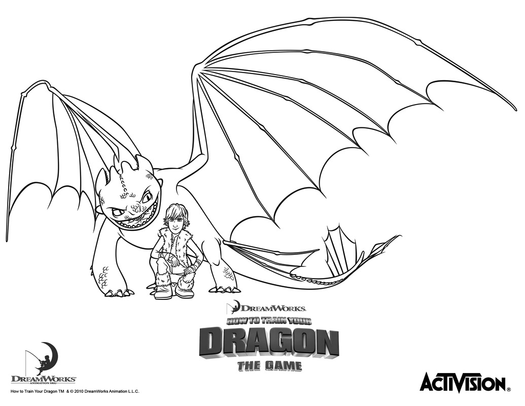 free coloring pages of how to train a dragon