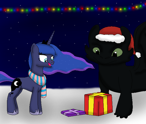 Princess Luna and Toothless