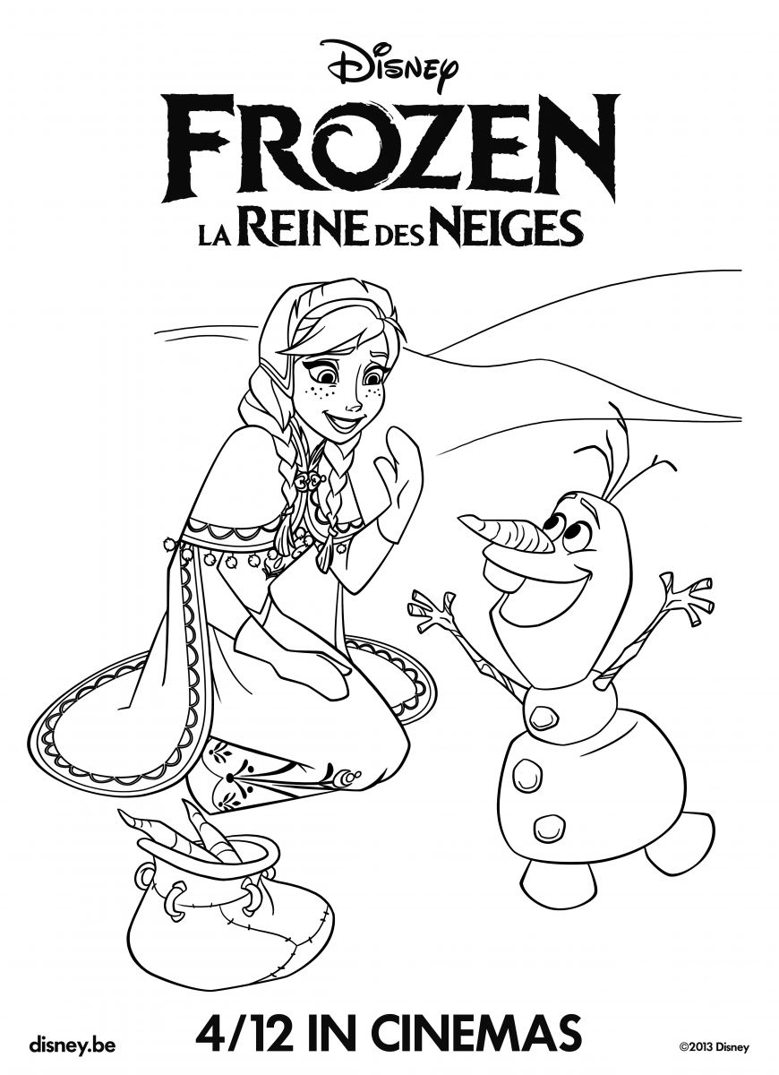 Pages colorier la reine des neiges - La riene des neiges ...