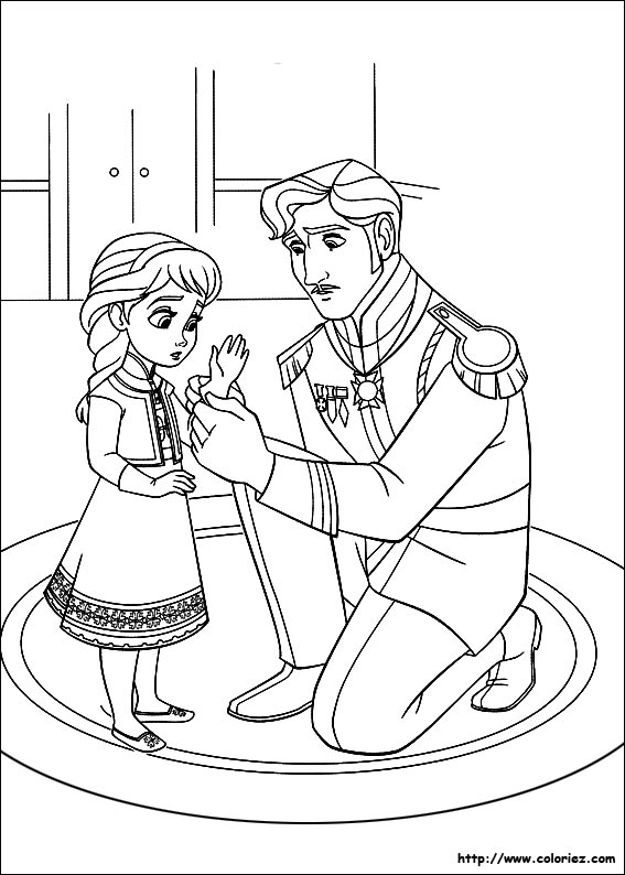 Pages colorier la reine des neiges - Coloriage reine ...
