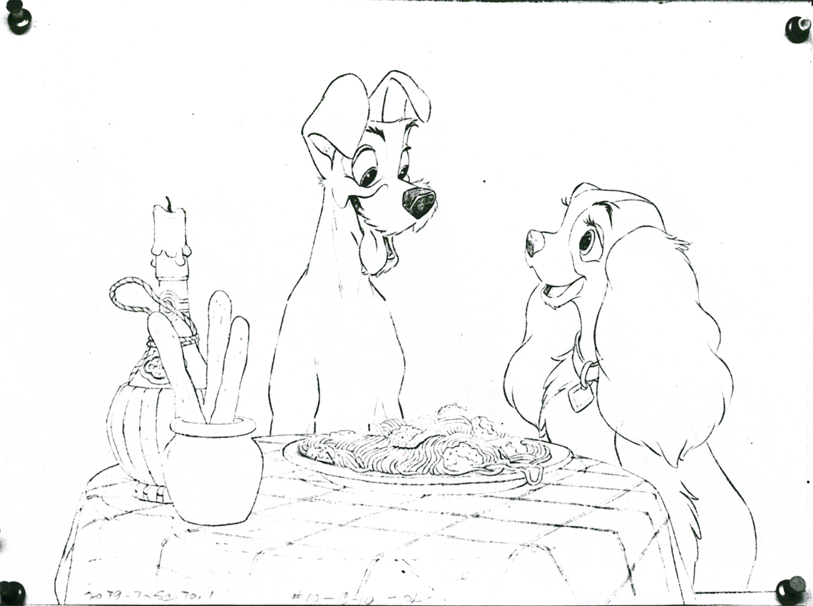Drawings C Lady The Tramp