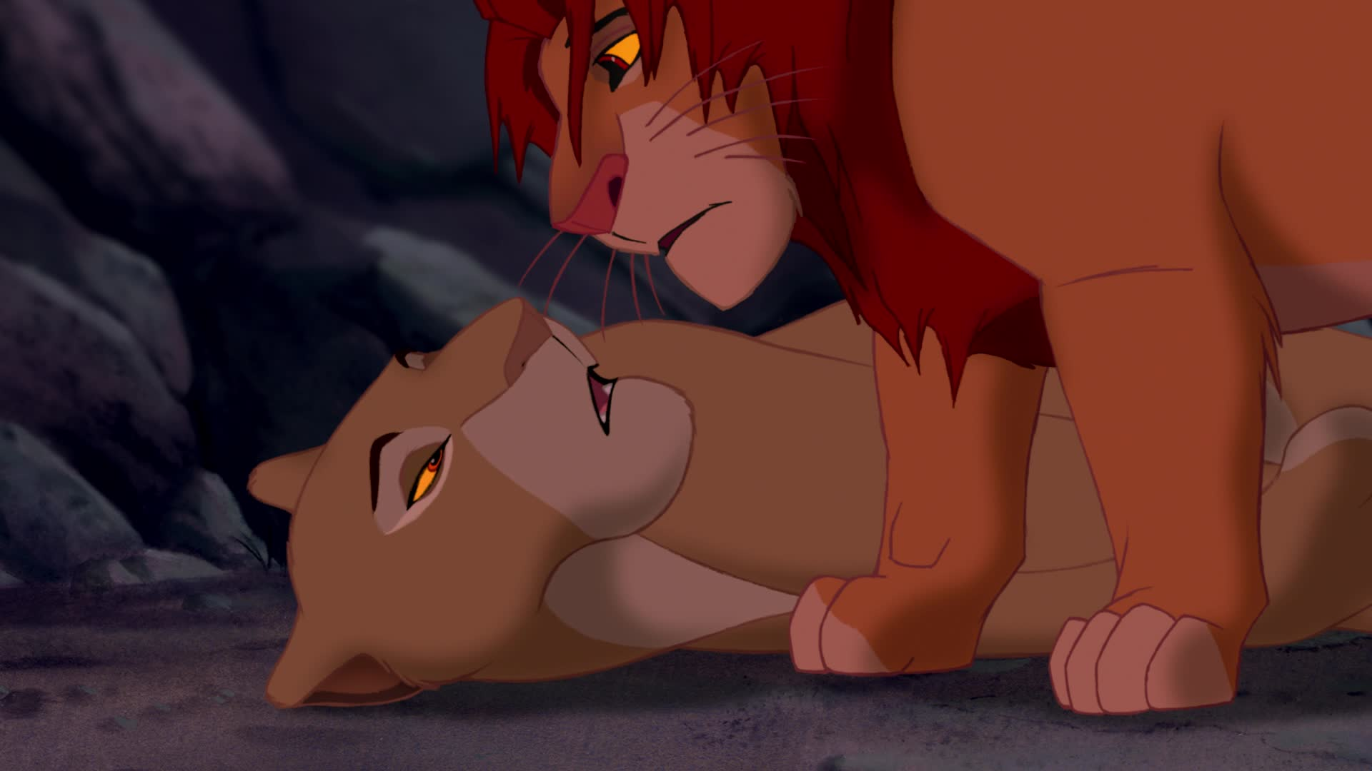 Kovu And Kiara Cubs © Lion King