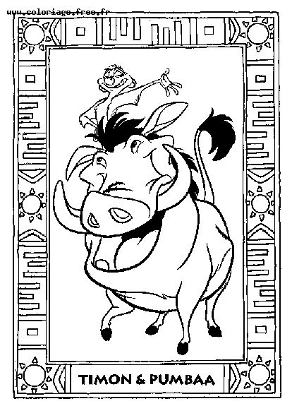 Coloring Pages 169 Lion King