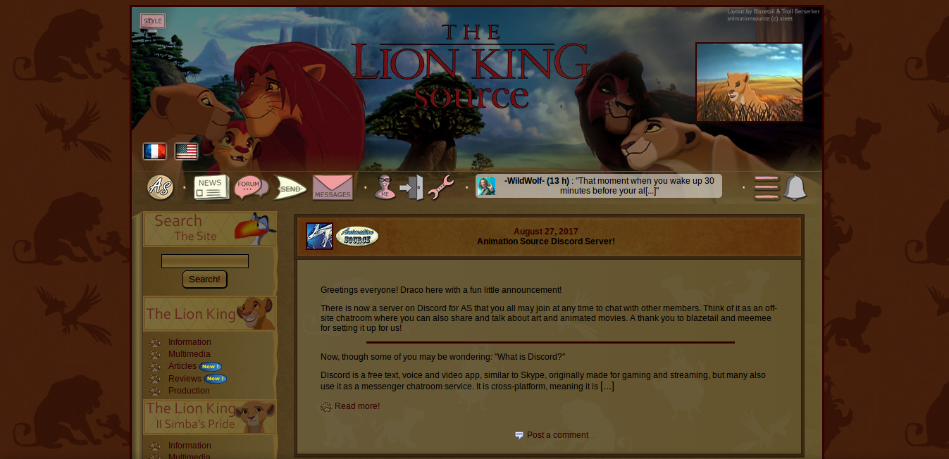 Dark theme for TLKS © The Lion King