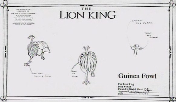 character sheets  u00a9 the lion king