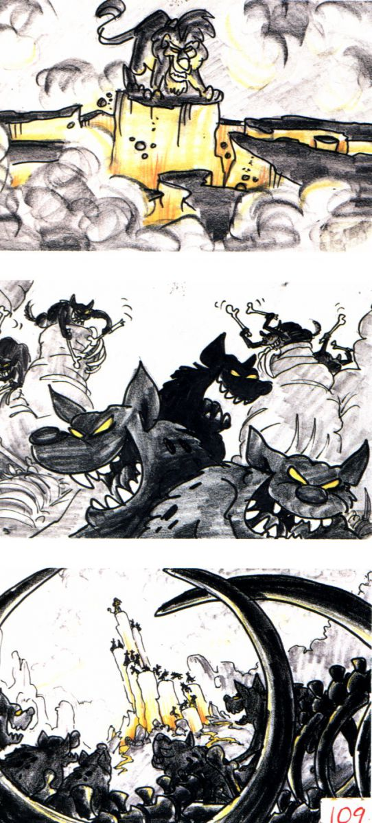 storyboards  u00a9 the lion king