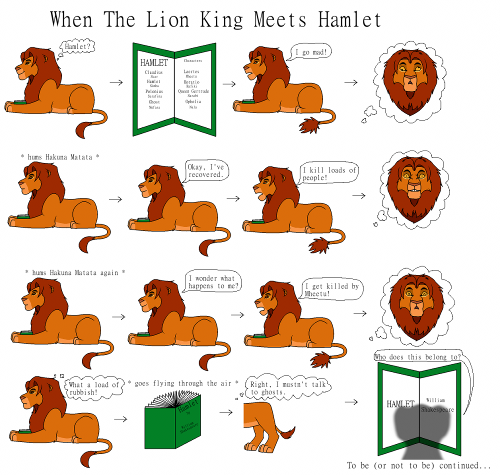 the lion king is based on hamlet