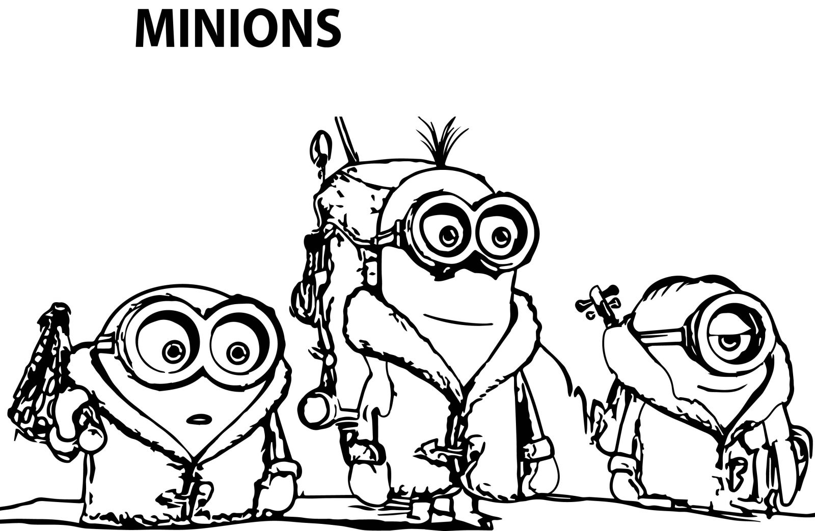 Printable coloring pages minions - Printable Coloring Pages Minions 53