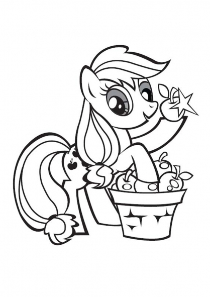 Coloriages mon petit poney - Coloriage poney ...