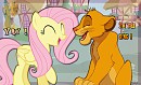 The best friends forever - Fluttershy x Simba