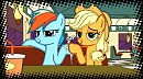 Apple Jack and Rainbow Dash in Comics style