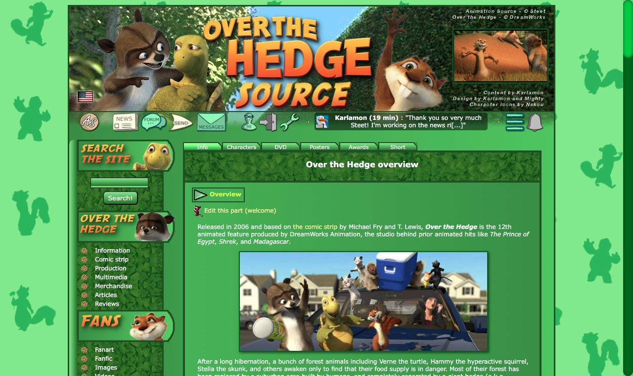 Over the Hedge Source