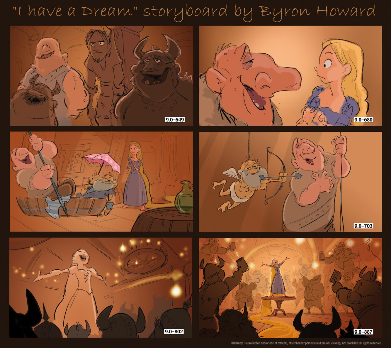 Storyboards © Tangled