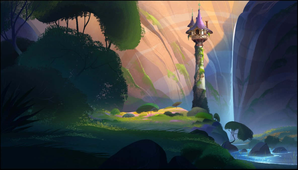'Tangled: The Series' background by Fiona Hsieh.