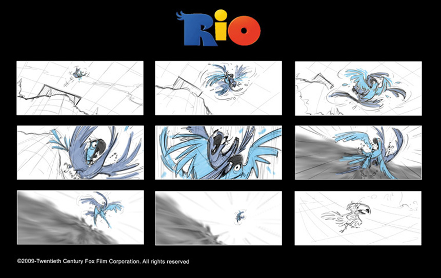 Storyboards © Rio Despicable Me 2 Characters