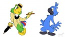 Jose Carioca and Blu