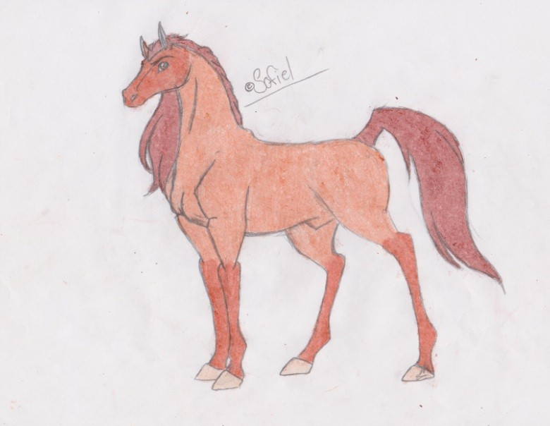 how to draw spirit the horse