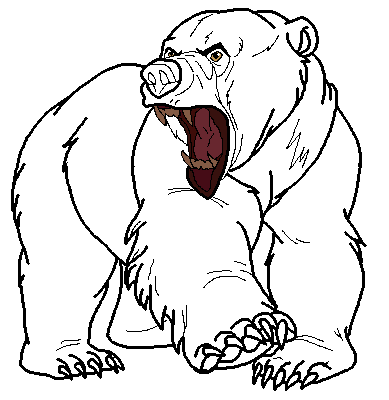 angry bear standing drawing - photo #7