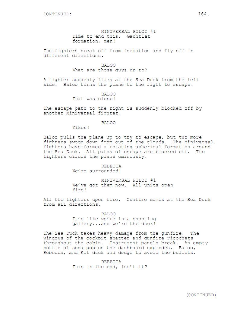 writing a screenplay format example