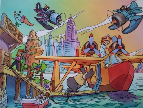 Talespin animation cel
