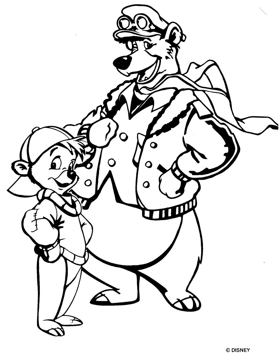 Chip And Dale Christmas Coloring Pages Eliolera Com