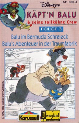 Talespin : Baloo escaping with Molly and Kit