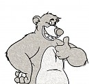 Baloo thumbs up with style