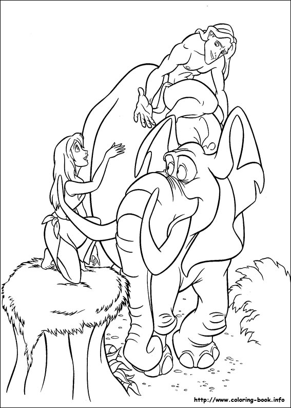 Coloriages tarzan for Tarzan coloring pages