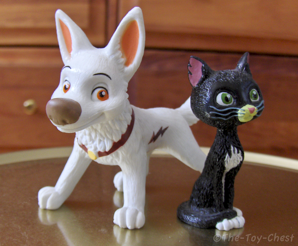Bolt and Mittens figurines
